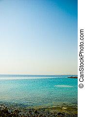 scène tropicale, mer