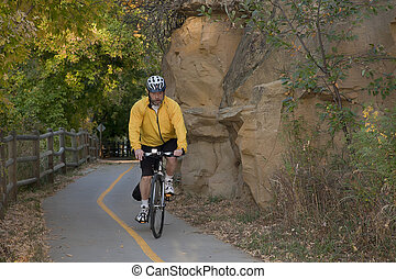 scénique, équitation vélo, piste
