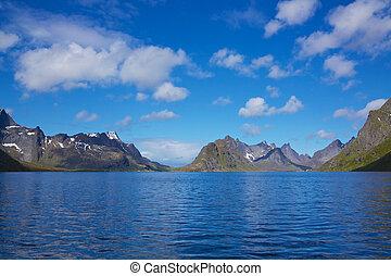 scénique, fjord, dans, norvège