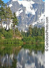 scénique, paysage, montagne