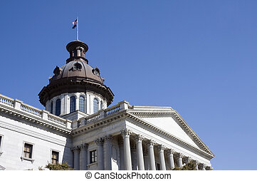 detail of the dome on the capital building in downtown Columbia, SC