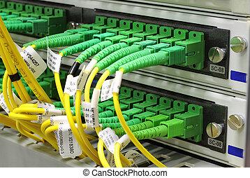 sc, connecteurs, panneau, pièce
