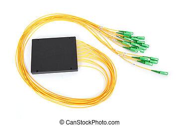 sc, coupler, connecteurs, fibre optique