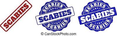SCABIES Grunge Stamp Seals