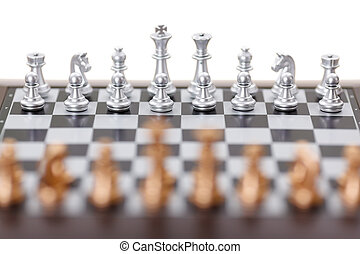 scacchi, argento, pezzi
