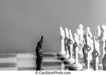 scacchi, bianco, nero, fondo.