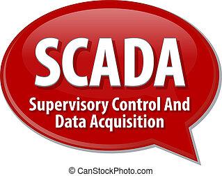 SCADA acronym definition speech bubble illustration - Speech...