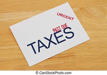 scaduto, tasse