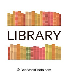 scaffale, libri, pila, biblioteca, lettura