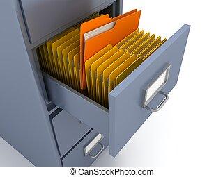 scaffale, per, documenti