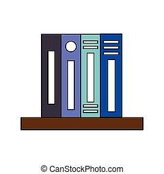 scaffale, provviste, rilegatore, libro, ufficio