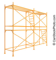 Scaffold isolated on white background