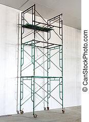 scaffold - Iron scaffold with wheel in warehouse