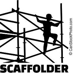 scaffolder, cadre, métier, titre