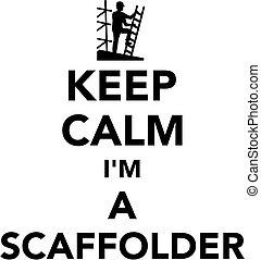 scaffolder, calme, garder