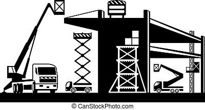 Scaffolding and lifting machinery