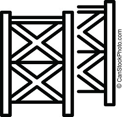 Scaffolding equipment icon, outline style