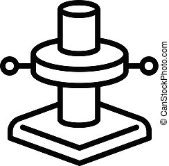 Scaffolding foot icon, outline style