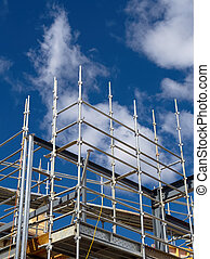 scaffolding for a new house - scaffolding from a...