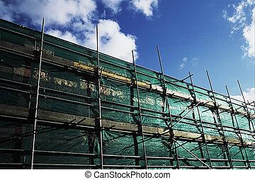 Scaffolding netting.