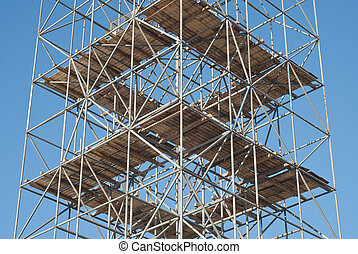 Scaffolding on a Construction Site - Scaffolding as Safety...