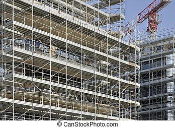 scaffolding rhapsody #3 - foreshortening of a swarm of...