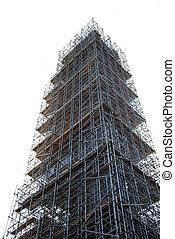 Scaffolding - scaffolding on white