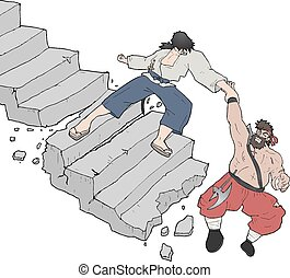 scala, cadere