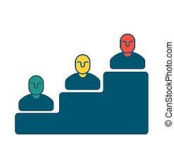 scala carriera, icon., passi, da, managers., amministrazione, segno., concetto affari, simbolo