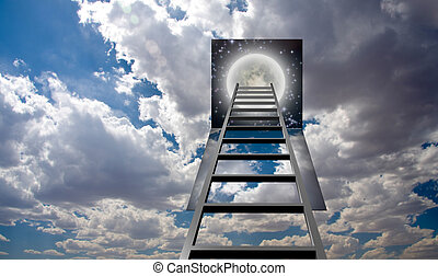 scala, cielo, buco