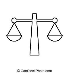 scala giustizia, vettore, icona