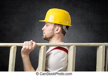 scala, lavoratore costruzione