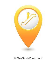 scala mobile, mappa, icona, puntatore