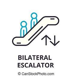 scala mobile, segno, simbolo, concetto, vettore, magro, illustation, icona, linea, lineare