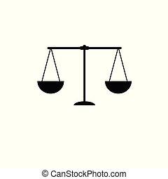 scala, scale, illustrazione, giustizia, vettore, icon.