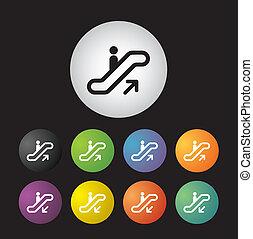 scala, simbolo, set