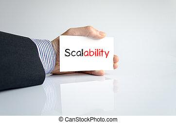 scalability, texto, conceito