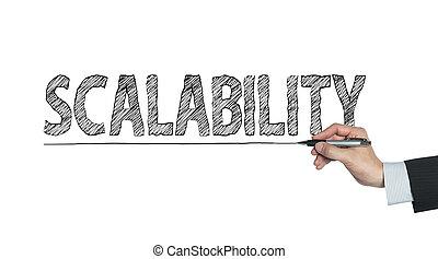 scalability written by hand