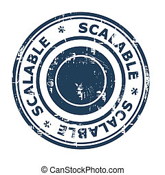 Scalable business concept stamp