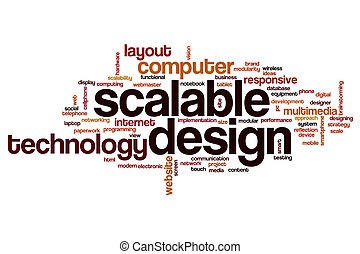 Scalable design word cloud