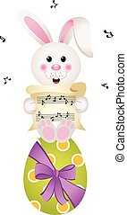 Easter bunny singing