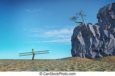 scalata pietra, scala