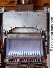 scaldabagno, fornace, gas