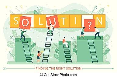 scale, lavorante, problema, soluzione, affari