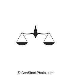 Law firm logo - Scale Law firm logo ilustration vector ...