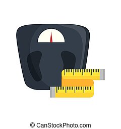 scale measure weight with measuring tape