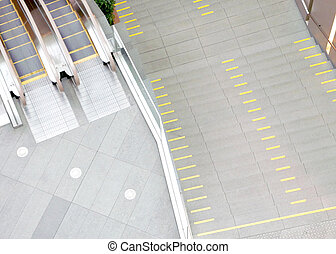scale mobili, in, il, centro commerciale