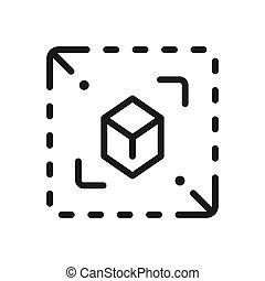 scale modification icon illustration design