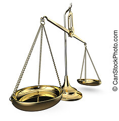 Scale of justice.
