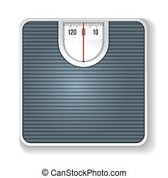 scale., sfondo bianco, illustrazione, peso